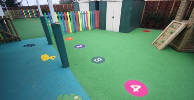 Wetpour Graphic Installation in Oxfordshire